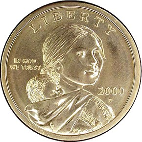 2000 P CHEERIOS PROMOTION $1 MS obverse