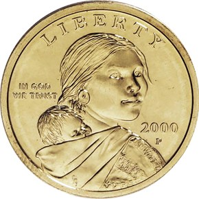 2000 P GOODACRE PRESENTATION $1 SP obverse