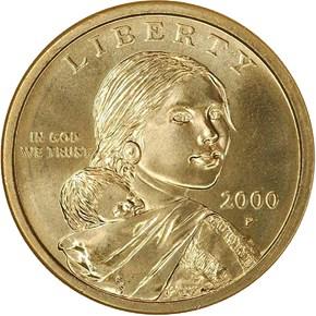 2000 P PROTOTYPE REVERSE $1 MS obverse