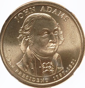 2007 P JOHN ADAMS $1 MS obverse