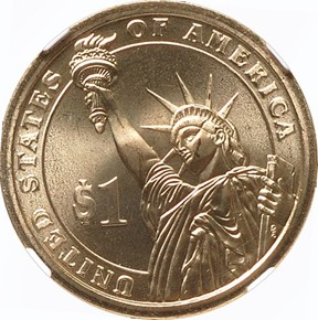 2007 P JOHN ADAMS $1 MS reverse