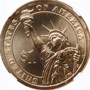2012 P CHESTER ARTHUR $1 MS reverse