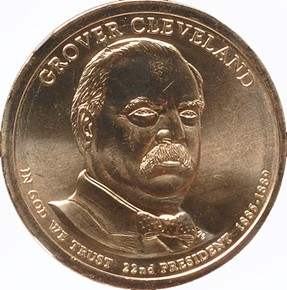 2012 P GROVER CLEVELAND 1ST TERM $1 MS obverse