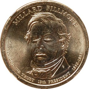 2010 P MILLARD FILLMORE $1 MS obverse
