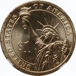 2010 P MILLARD FILLMORE $1 MS reverse