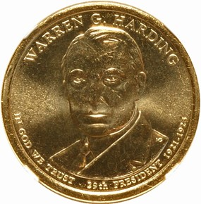 2014 D WARREN HARDING $1 MS obverse
