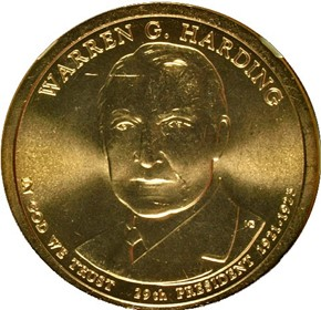 2014 P WARREN HARDING $1 MS obverse