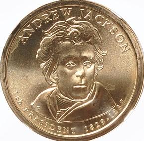 2008 P ANDREW JACKSON $1 MS obverse