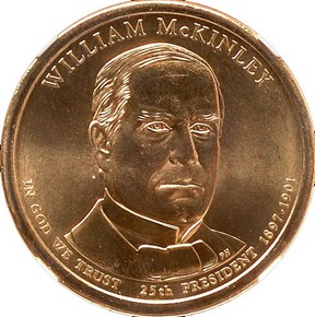 2013 P WILLIAM McKINLEY $1 MS obverse