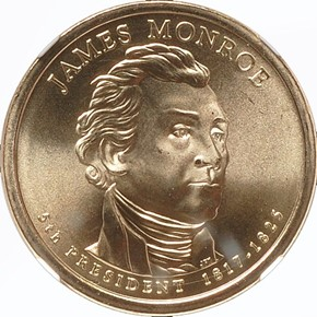 2008 P JAMES MONROE $1 MS obverse