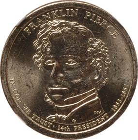 2010 P FRANKLIN PIERCE $1 MS obverse