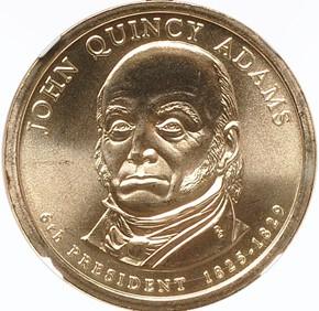 2008 P JOHN QUINCY ADAMS $1 MS obverse
