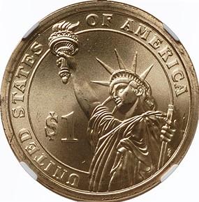 2008 P JOHN QUINCY ADAMS $1 MS reverse