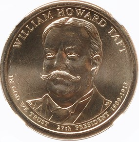2013 P WILLIAM TAFT $1 MS obverse