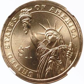 2008 P MARTIN VAN BUREN $1 MS reverse
