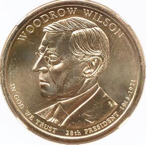 2013 P WOODROW WILSON $1 MS obverse