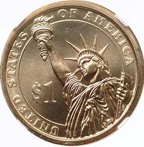 2013 P WOODROW WILSON $1 MS reverse
