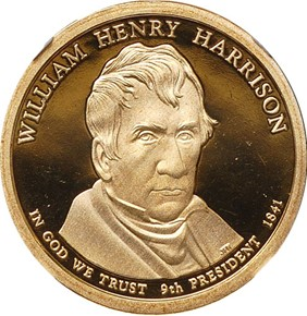2009 S WILLIAM H. HARRISON $1 PF obverse