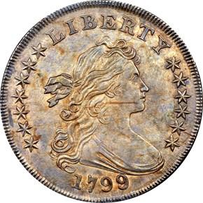 1799/8 $1 MS obverse