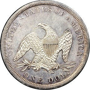 1841 S$1 MS reverse