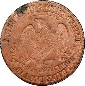 (1876) J-A1876-3 T$1 MS reverse
