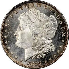1878 8TF S$1 MS obverse