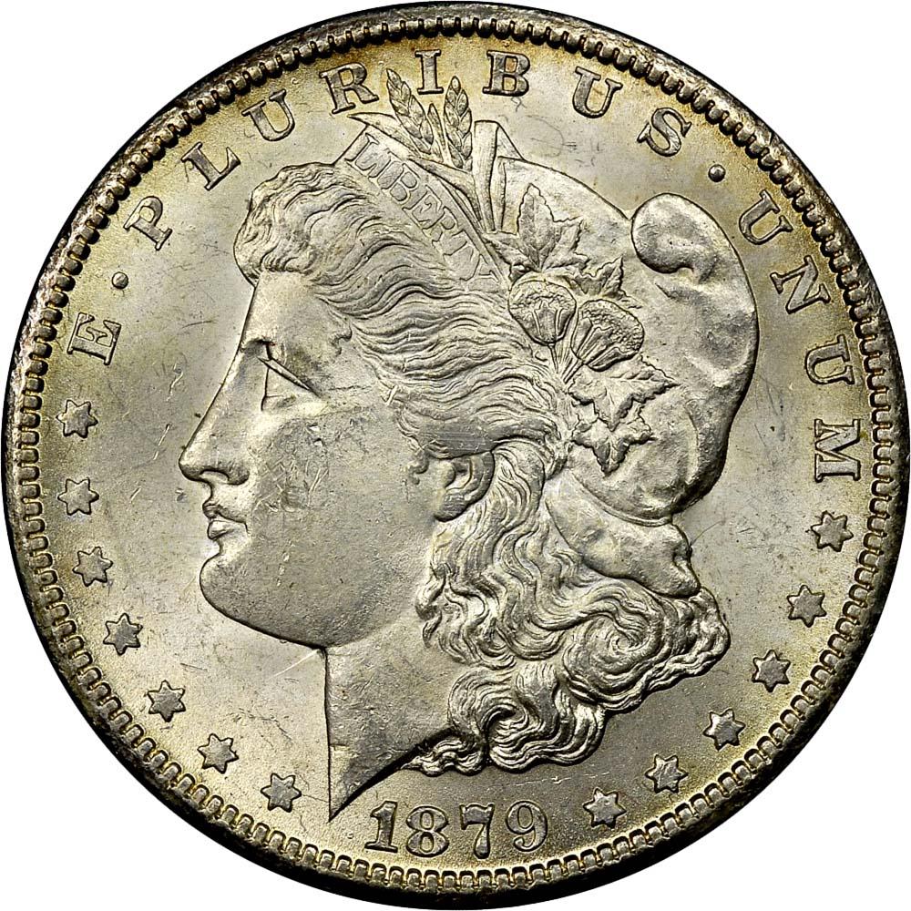1879 CC S$1 MS Morgan Dollars