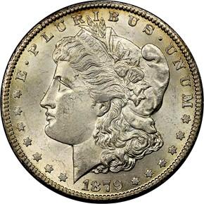 1879 CC S$1 MS obverse