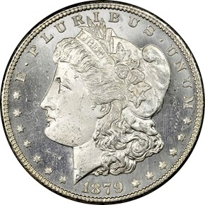 1879 S REV OF 78 TOP-100 $1 M obverse