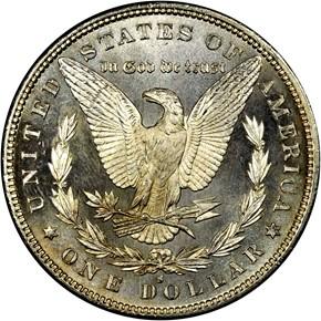1879 S S$1 MS reverse