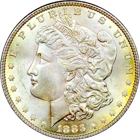1883 S$1 MS obverse