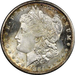 1884 CC S$1 MS obverse