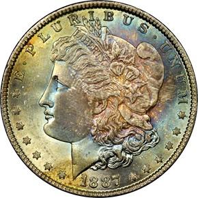 1887 S$1 MS obverse