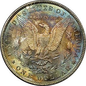 1887 S$1 MS reverse