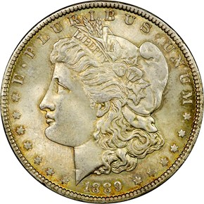 1889 S$1 MS obverse