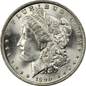 1890 O S$1 MS obverse