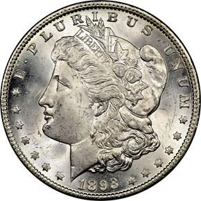 1893 $1 MS obverse