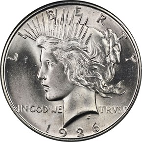 1926 D $1 MS obverse