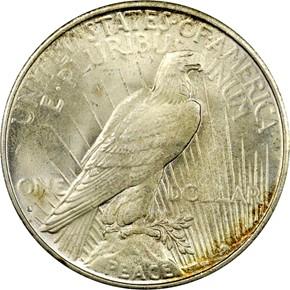 1935 S S$1 MS reverse