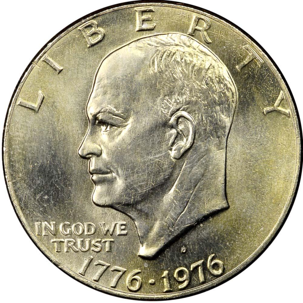 1976 D Eisenhower Dollar Coin Ike Variety 1 or Type 1 Denver