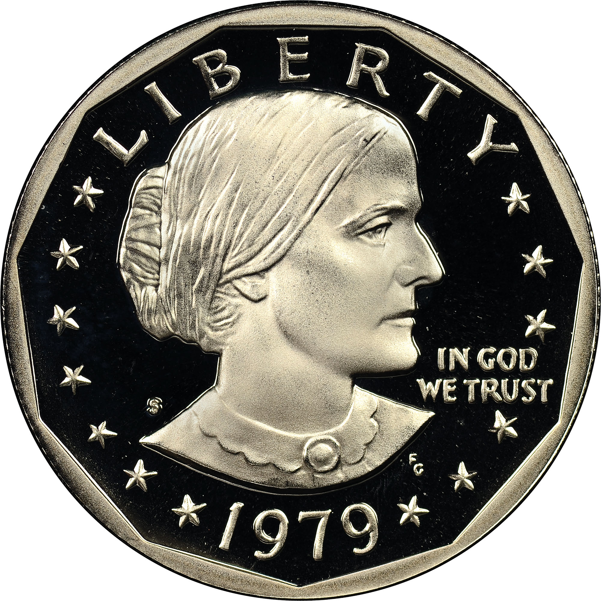 1979 S Proof Susan B Anthony Dollar Type 2 NGC PF 69 Ultra Cameo