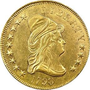 1798/7 STARS 9X4 BD-1 $10 MS obverse
