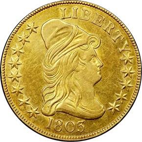 1803 $10 MS obverse