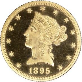 1895 $10 PF obverse