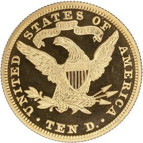 1895 $10 PF reverse