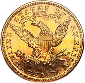 1906 $10 PF reverse
