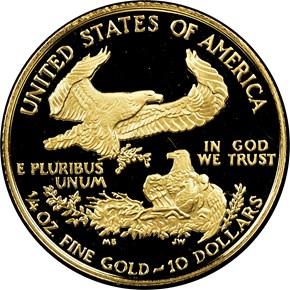 1994 W EAGLE G$10 PF reverse