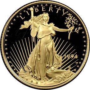 1994 W EAGLE G$10 PF obverse