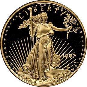 1997 W EAGLE G$10 PF obverse