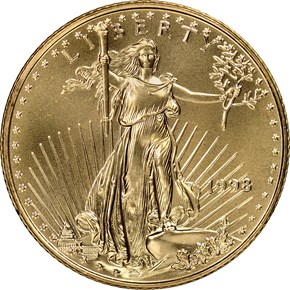 1998 EAGLE G$10 MS obverse